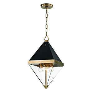 Coltrane Aged Brass Four-Light Pendant