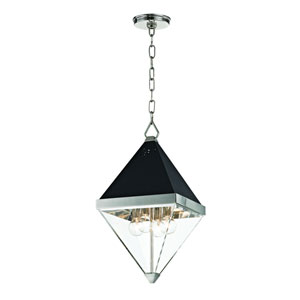 Coltrane Polished Nickel Four-Light Pendant