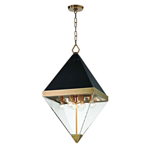 Coltrane Aged Brass Eight-Light Pendant
