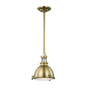 Massena Aged Brass 10-Inch One-Light Pendant