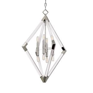 Lyons Polished Nickel Eight-Light Pendant