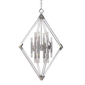 Lyons Polished Nickel 16-Light Pendant