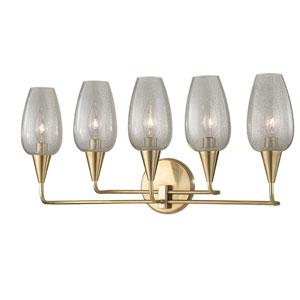 Longmont Aged Brass Five-Light Wall Sconce