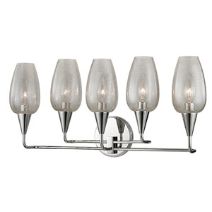 Longmont Polished Nickel Five-Light Wall Sconce