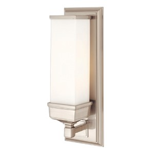 Everett Satin Nickel One-Light Sconce with Opal Matte Glass