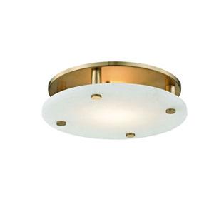 Croton Aged Brass 18-Light LED Flush Mount
