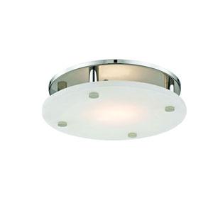 Croton Polished Nickel 18-Light LED Flush Mount