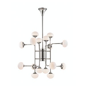 Fleming Polished Nickel LED 16-Light Chandelier