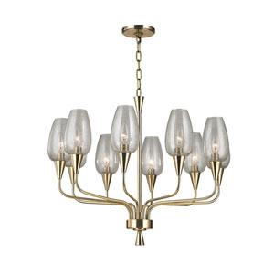 Longmont Aged Brass Ten-Light Chandelier