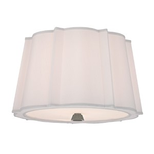 Humphrey Polished Nickel Two-Light Semi Flush Light Fixture