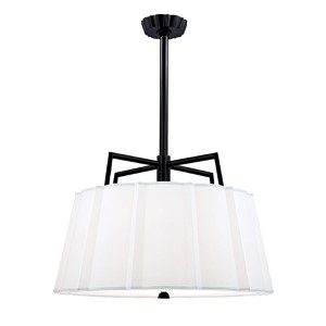 Humphrey Old Bronze Five-Light Pendant with White Shade