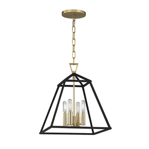 Webster Aged Brass Four-Light Pendant