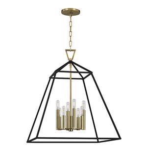 Webster Aged Brass Eight-Light Pendant