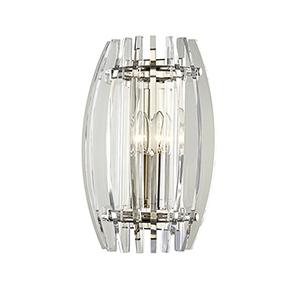 Freeze Polished Nickel 2-Light 9.5-Inch Wall Sconce