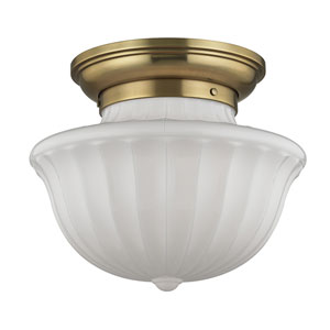 Dutchess Aged Brass Two-Light Flushmount