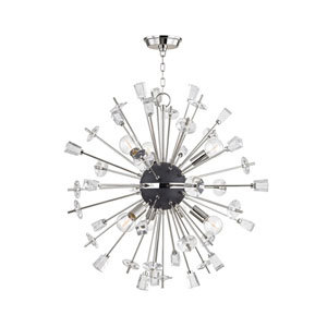Liberty Polished Nickel 32-Inch Six-Light Pendant