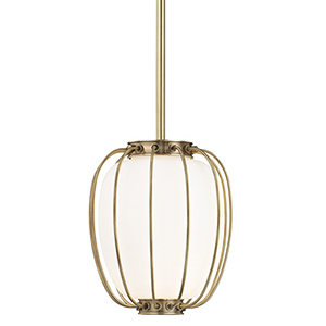 Ephron Aged Brass 1-Light 10-Inch Pendant