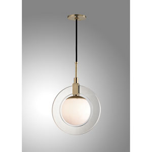 Caswell Aged Brass LED 12-Inch Pendant