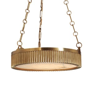Lynden Aged Brass Four-Light Pendant