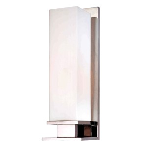 Thompson Polished Nickel One-Light Bath Light with Opal Matte Glass