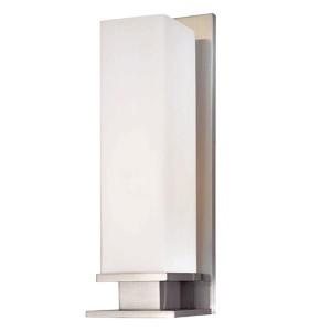 Thompson Satin Nickel One-Light Bath Light with Opal Matte Glass
