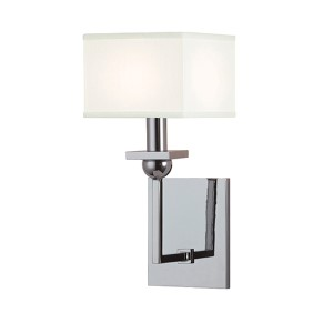 Morris Polished Chrome One-Light Wall Sconce with White Shade