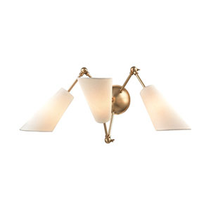 Buckingham Aged Brass 27-Inch Three-Light Wall Sconce