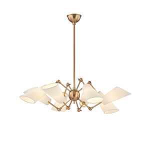 Buckingham Aged Brass 34-Inch Eight-Light Chandelier