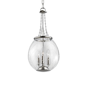 Pierce Polished Nickel Three-Light Pendant