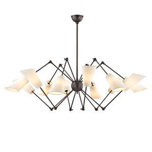 Buckingham Old Bronze 54-Inch 12-Light Chandelier