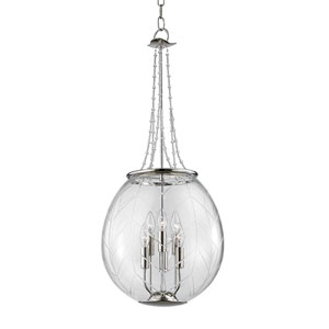 Pierce Polished Nickel Six-Light Pendant