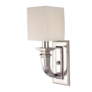 Phoenicia Polished Nickel One-Light Sconce