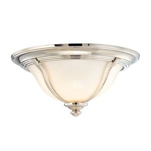 Carrollton Polished Nickel Two-Light Flush Mount