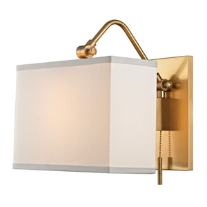 Leyden Aged Brass One-Light Wall Sconce