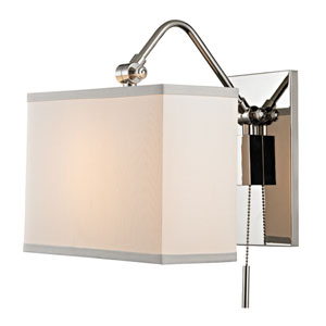 Leyden Polished Nickel One-Light Wall Sconce