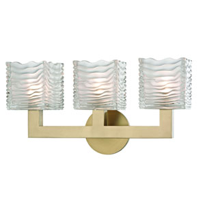 Sagamore Aged Brass LED Bath Sconce