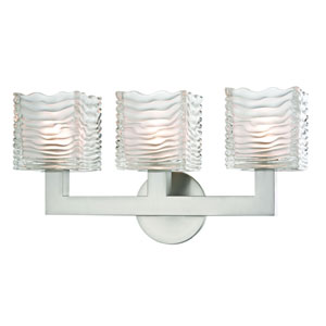 Sagamore Satin Nickel LED Bath Sconce
