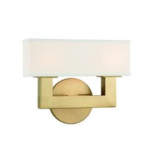 Clarke Aged Brass LED Wall Sconce