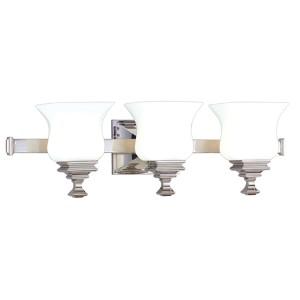 Wilton Three-Light Polished Nickel Bath Fixture