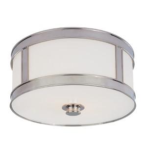 Patterson Polished Nickel One-Light Flush Mount