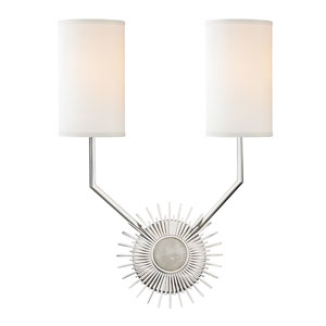 Borland Polished Nickel Two-Light Wall Sconce