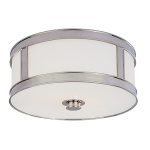 Patterson Polished Nickel Two-Light Flush Mount