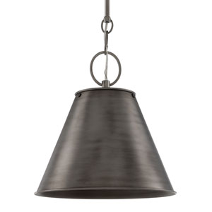 Altamont Historic Nickel 15-Inch One-Light Pendant