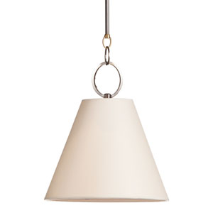 Altamont 15-Inch Distressed Bronze Pendant with Off-White Parchment Shade