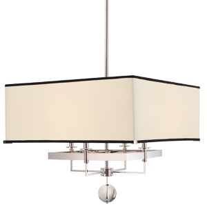 Gresham Park Polished Nickel 24-Inch Four-Light Pendant