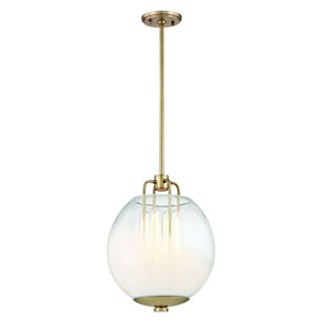 Sawyer Aged Brass 13-Inch One-Light Pendant