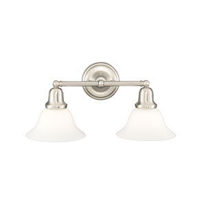 Edison Polished Nickel 18-Inch Two-Light Bath Sconce