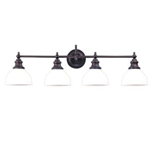 Sutton Old Bronze Four-Light Bath Fixture