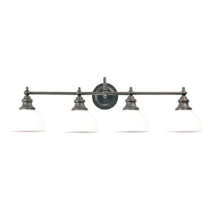 Sutton Polished Nickel Four-Light Bath Bracket