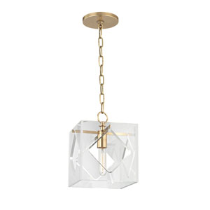 Travis Aged Brass One-Light Pendant